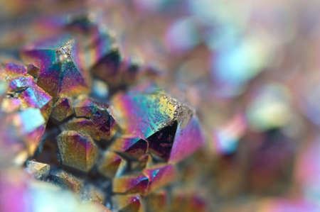 multicoloured: Multi-coloured crystals macro abstract background