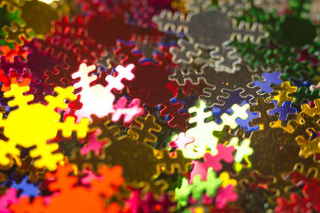 multicoloured: Celebratory background from paper Snowflakes multi-coloured. Macro Stock Photo