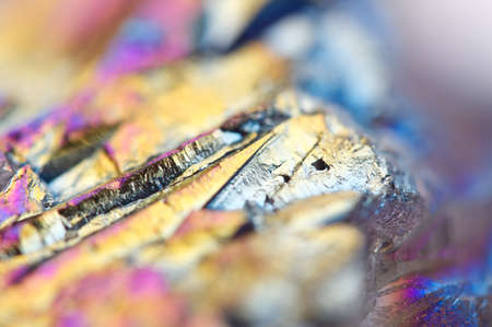 multicoloured: Abstract colorful metal Titanizing Quartz, Multi-coloured Background. Macro
