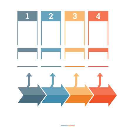 tab: Timeline Infographic design template four position for text area