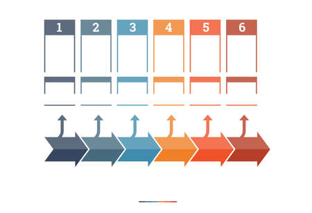 text area: Timeline Infographic design template six position for text area
