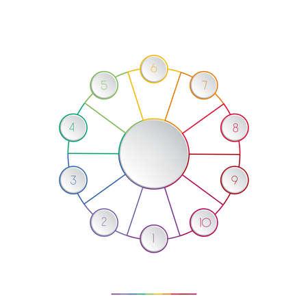 ten: Template for infographic ten positions
