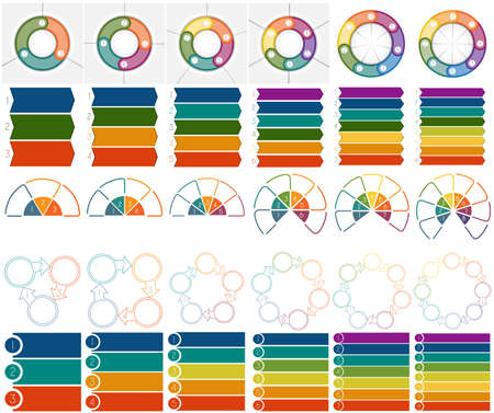 six web website: Numbered 30 Templates Infographics with text area on three, four, five, six, seven and eight position possible to use for work flow, banner, diagram, web design, business projects. Abstract images Illustration