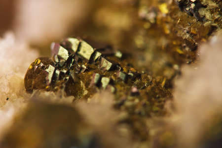 chrome: Golden  Abstract background from natural mineral. Macro