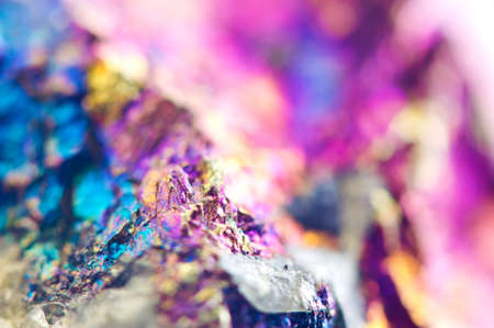 Colorful metal  Abstract background from natural mineral. Macro