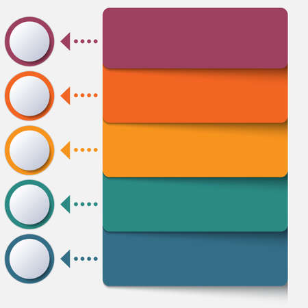 Template infographic color strips for 5 positions Фото со стока