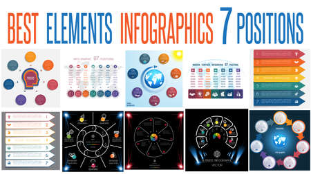 Set of universal infographic templates.