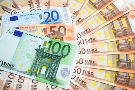 euro banknotes close up Banque d'images