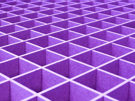 Creative idea for background. parallel lines, rhombuses, squares in the perspective of lilac color, pattern Banque d'images
