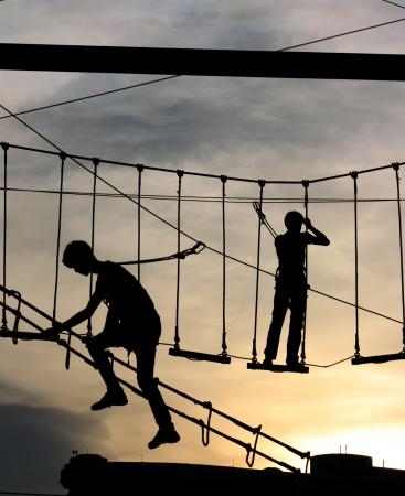 ladder safety: Silhouette Adventure