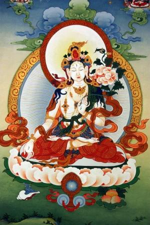 tara: Tibet painting Editorial
