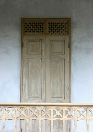 Old wooden door photo