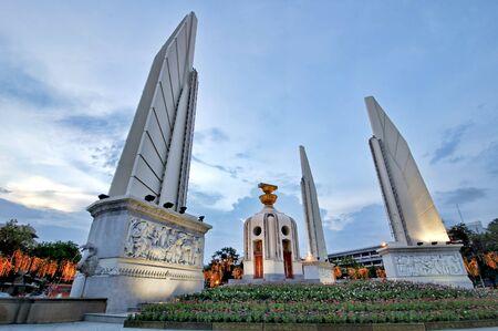 democracy Monument: BANGKOK, THAILAND - August 12, 2015 : Democracy Monument Ratchadamnoen Road
