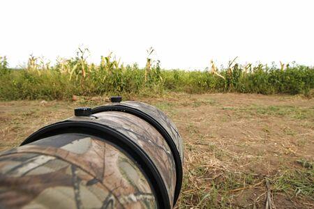 bird watcher: Blind Hide Bird photography in field