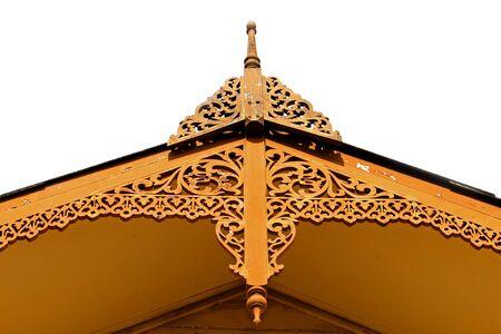 thai style: Isosceles lace roof thai style of house Stock Photo