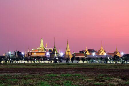 Cityscape view of Royal plaza sanam luang the pramane ground, Wat Phra Kaew Temple of the Emerald Buddha landmark of Bangkok Thailand Imagens