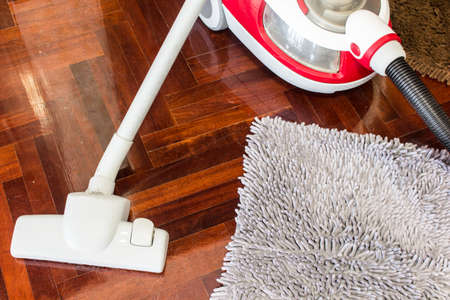 keeping room: Vacuum cleaner to tidy up on  wooden floor