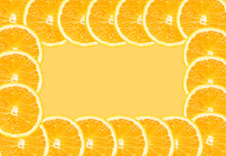 Half of orange  background with space for text