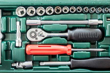 Close up set tools box