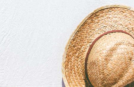 amish: Straw hat Stock Photo