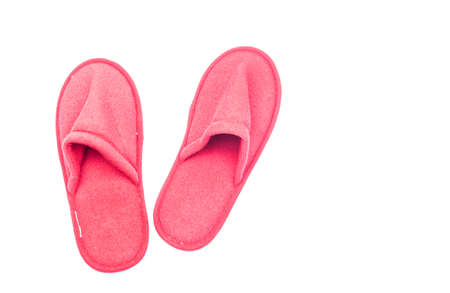 Home slippers isolated on white background Stock Photo