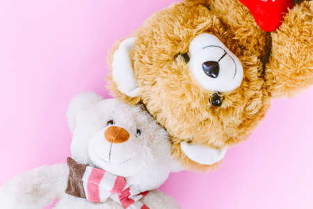 Teddy bear on pink background Stock Photo