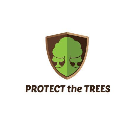 go green logo: Protect The Trees Logo Design