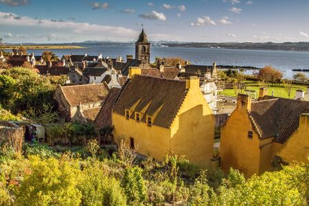 Beautiful Seaside View in Culross, Fife in Scotland photo