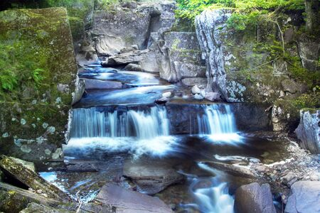 Blue waterfall in the Bracklin Falls Callander photo