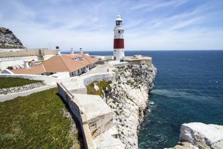 Europa Point Lighthouse in Gibraltar near Spain