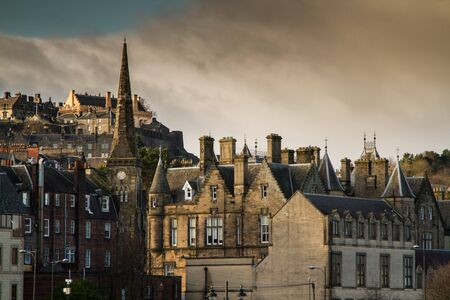 Shot of old Stirling town Center in Scotland