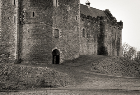 Shot of a dramatic foreboding Castle in Scotland Stock Photo - 18375368