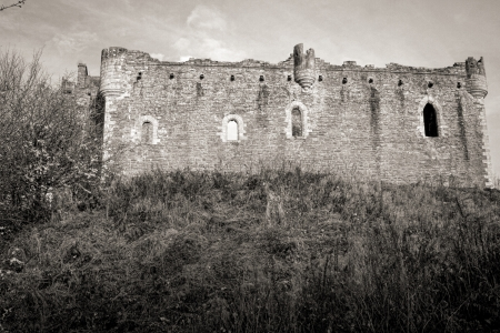 Shot of a dramatic foreboding Castle in Scotland Stock Photo - 18375367
