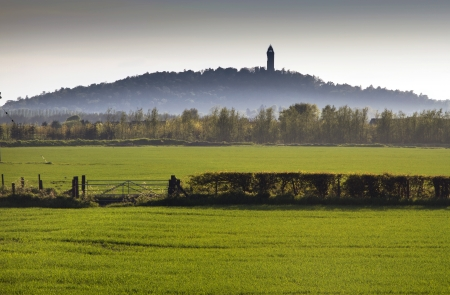 Misty Wallace Monument in the Distance Stock Photo