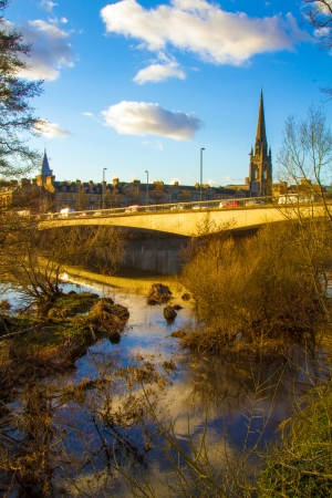 A beautiful shot of the River Tay in Perth Scotland photo