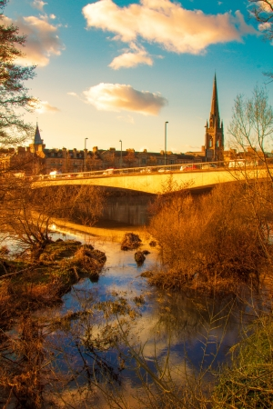A Pretty River sunset in Perth Scotland photo