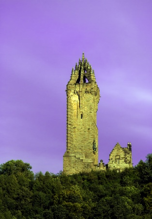 wallace: Wallace Monument on a warm Summers Day