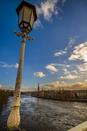 tay: Shot of Perth and the River Tay Stock Photo