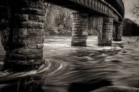 A shot of Wild Water in the River Tay photo