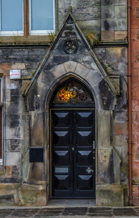A shot of an Old Victorian door in Perth Scotland photo