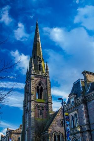 tay: Shot of Sunshine on A church in Perth Scotland Stock Photo