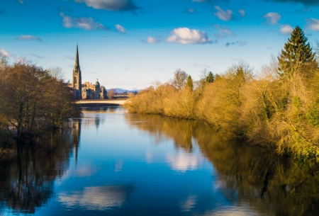 A shot of the River Tay in Scotland photo