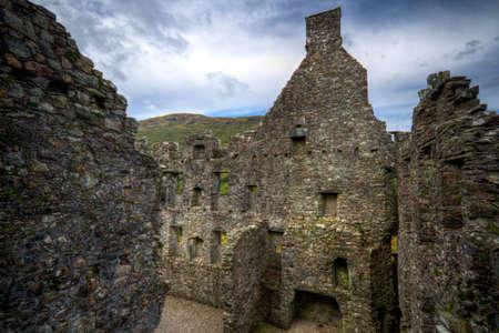 A shot of Kilchurn Castle in Scotland photo