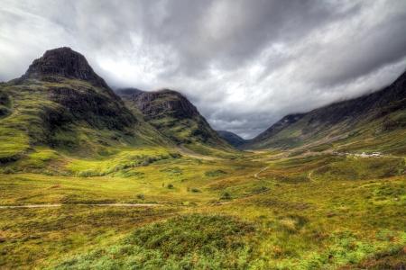 Stunning shot of Glencoe in the Scottish highlands Stock Photo