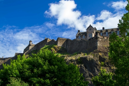 Shot of Edinburgh Castle under Blue Sky photo