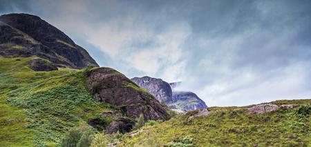 highland region: Stunning Scottish Mountain range in Glencoe Highlands