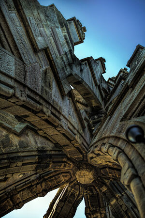 scots: Shot of Detailed Architecture at top of Wallace Monument