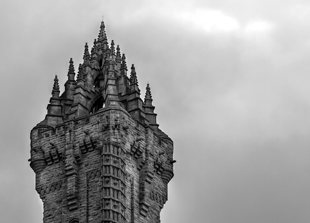 wallace: A Close detailed shot of Wallace Monument in Stirling Stock Photo