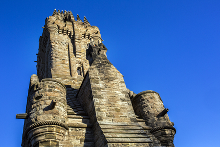 craig: Side view of the Wallace Monument Landmark in Scotland