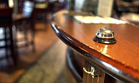 Shot of a Desk Bell in  hotel